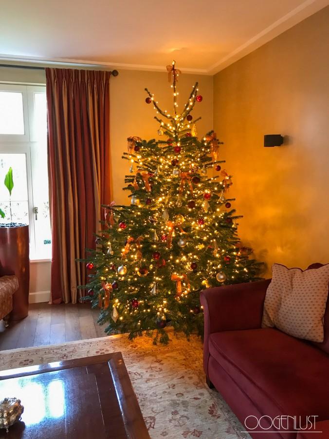 Kerstboom rode bank